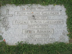 "Eugenie Wanda ""Jennie"" Gallinger"