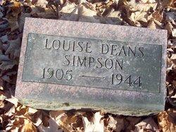 Louise <I>Deans</I> Simpson