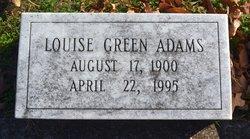 Louise West <I>Green</I> Adams