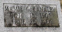 Mamie G Kanaley