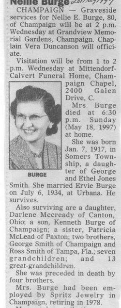 Nellie E. <I>Smith</I> Burge