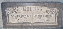 Dorothy <I>Heuett</I> Mullins