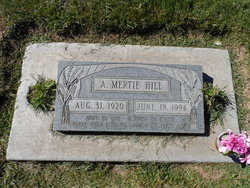 Alice Mertie <I>Holsinger</I> Hill