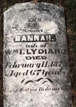 Hannah <I>Archibald</I> Lydiard