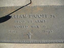 William T Goff, Sr
