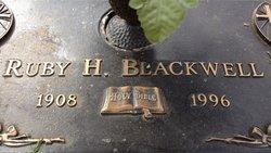 Ruby Lee <I>Hixson</I> Blackwell