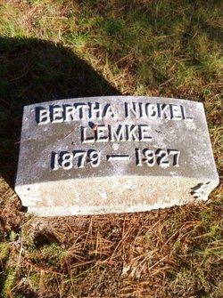 Bertha Elizabeth <I>Nickel</I> Lemke