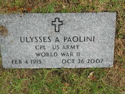 """Ulysses A """"Tony"""" Paolini"""