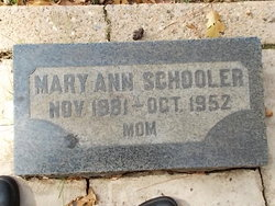 Mary Ann <I>Durfee</I> Schooler