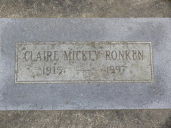 Claire Mickey Ronken