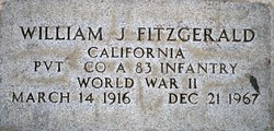 Pvt William J. Fitzgerald