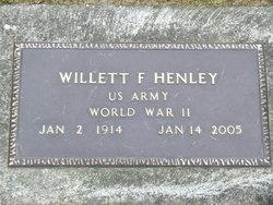 Willett F Henley