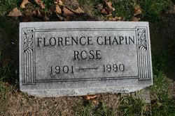 Florence <I>Chapin</I> Rose