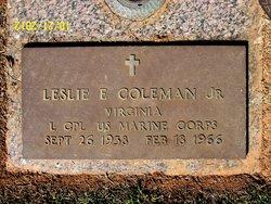 LCpl Leslie E Coleman, Jr