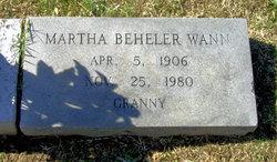 Martha <I>Beheler</I> Wann