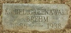 Mabel <I>Greenawalt</I> Brehm