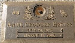 Annie Mae <I>Crowder</I> Hester