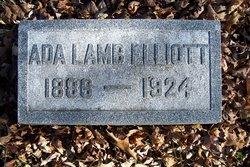 Ada <I>Lamb</I> Elliott