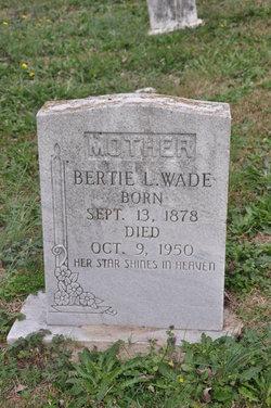 Bertie L Wade