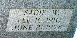 Sadie W Haynie