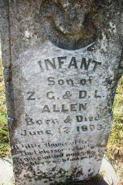 Infant Son  of Z.G. & D.L. Allen