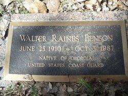 Walter Raines Benson