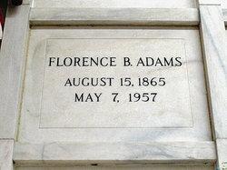 Florence B. <I>Williams</I> Adams