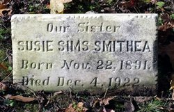 Susie <I>Sims</I> Smithea