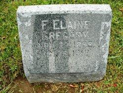 F Elaine Gregory