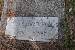 Mary <I>Braswell</I> Nobles
