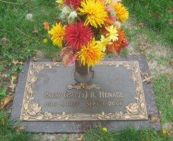 """Patsy Ruth """"Patty"""" <I>Harrison</I> Henage"""