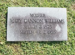 Mary E. <I>Cannon</I> Williams