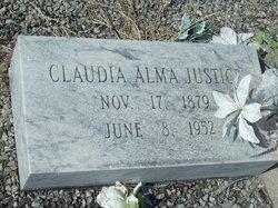 Claudia Alma <I>Holms</I> Justice
