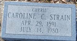 "Caroline ""Carrie"" <I>Carroll</I> Strain"