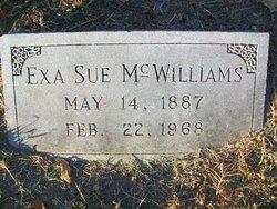 Exa Sue <I>Crews</I> McWilliams