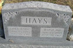 Marsh Roy Hays