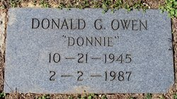 "Donald Gerald ""Donnie"" Owen"