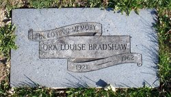 Ora Louise <I>Winslow</I> Bradshaw