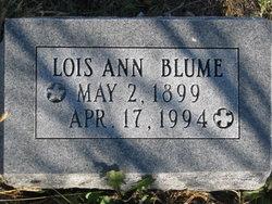 Lois Ann <I>White</I> Blume