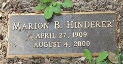 Marion B Hinderer