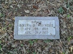 Bertha H Warnette