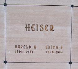 Harold Hill Heiser, Sr