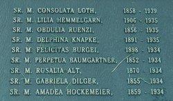 "Sr Elizabeth Sophia ""Felicitas"" Burgei"