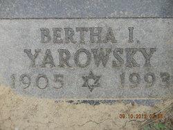 Bertha I Yarowsky
