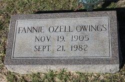 Fannie <I>Ozell</I> Owings