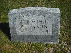 Matilda <I>Davis</I> Buckson