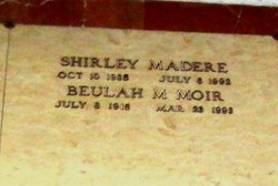 Shirley Jean <I>Moir</I> Madere