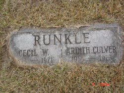 Ardith <I>Culver</I> Runkle
