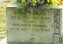 Margaret A <I>Lawrence</I> Brunner
