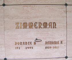 Barbara A <I>Frank</I> Zimmerman